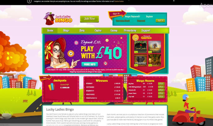Ladies Bingo Sites